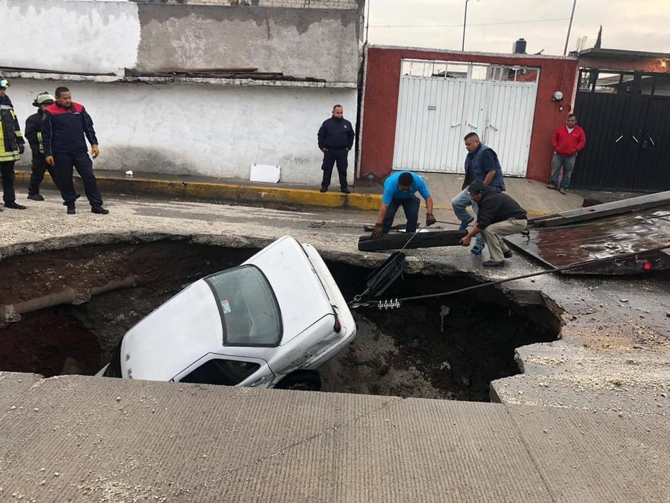 socavones en Ecatepec