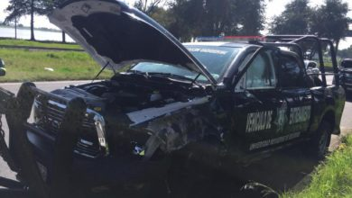 Chocan patrullas en Toluca