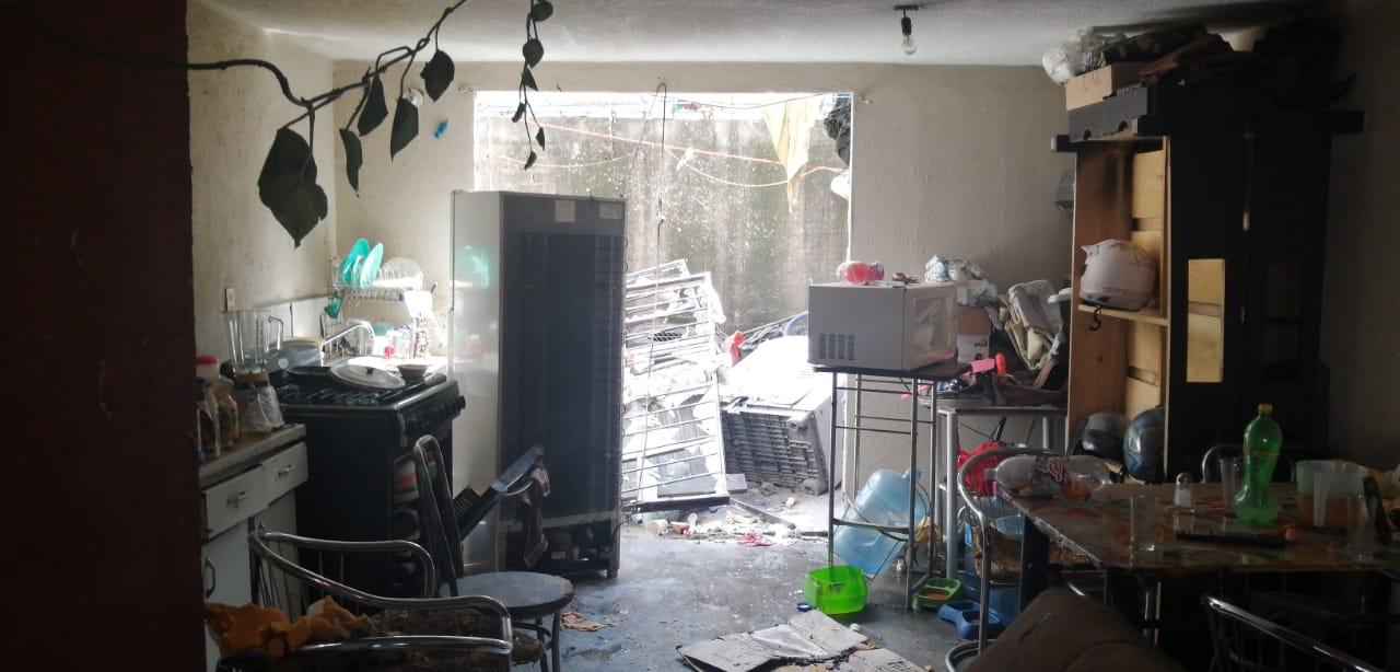 Por segunda ocasión en una semana se derrumba casa acausa de la explosión de un tanque de gas
