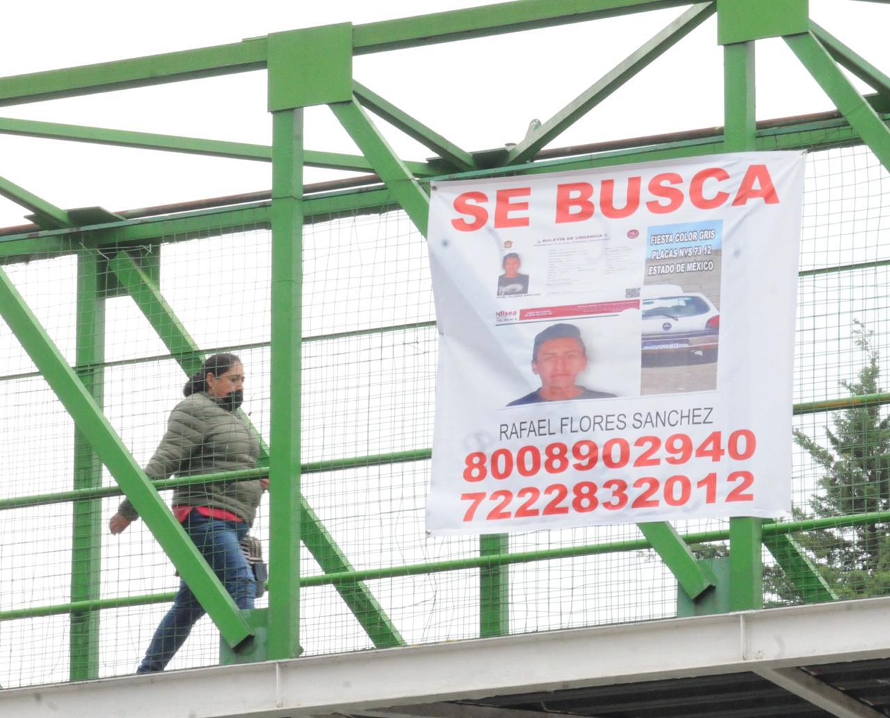 Buscan a Rafael Flores Sánchez