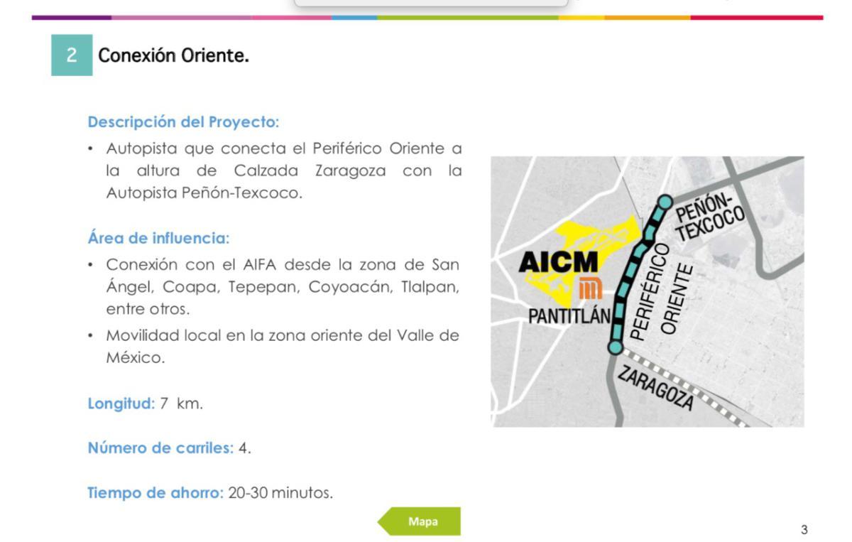 construirán vialidad ráoida inter aeropuertos en el valle de México