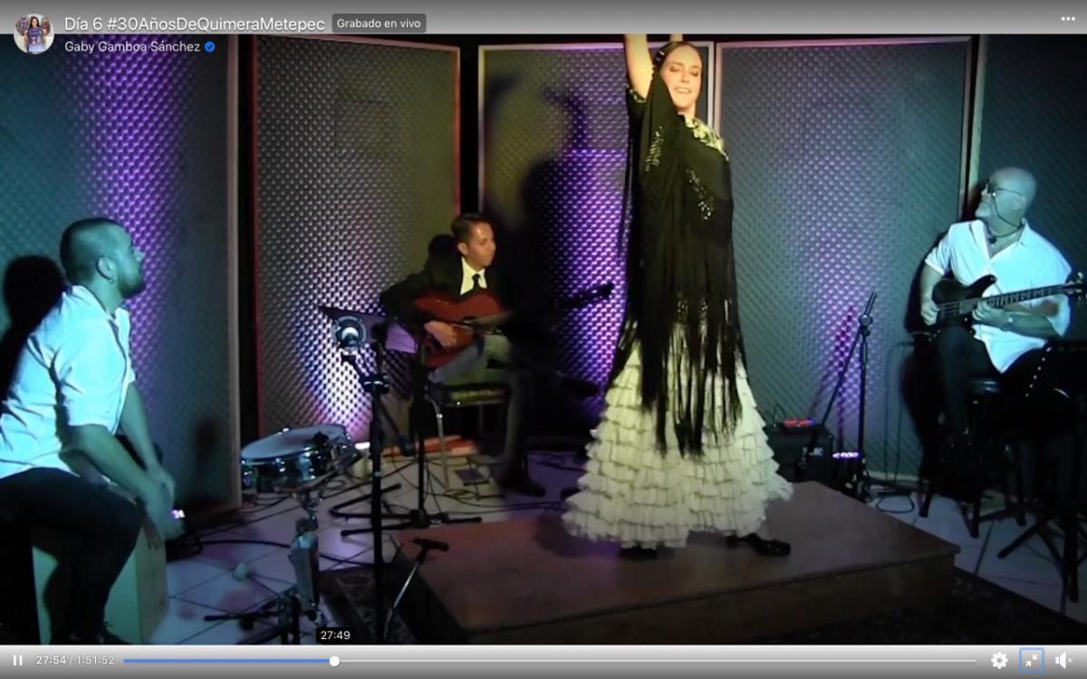 Espectáculo flamenco en Quimera