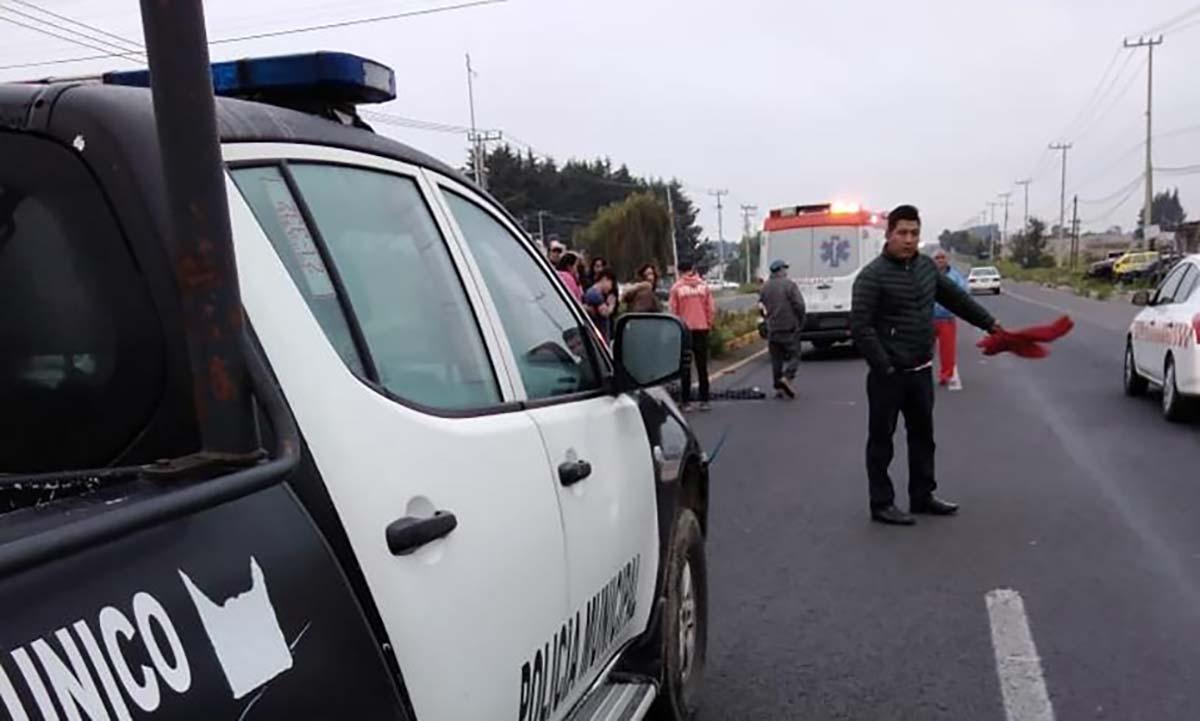 mujer atropellada en Zinacantepec