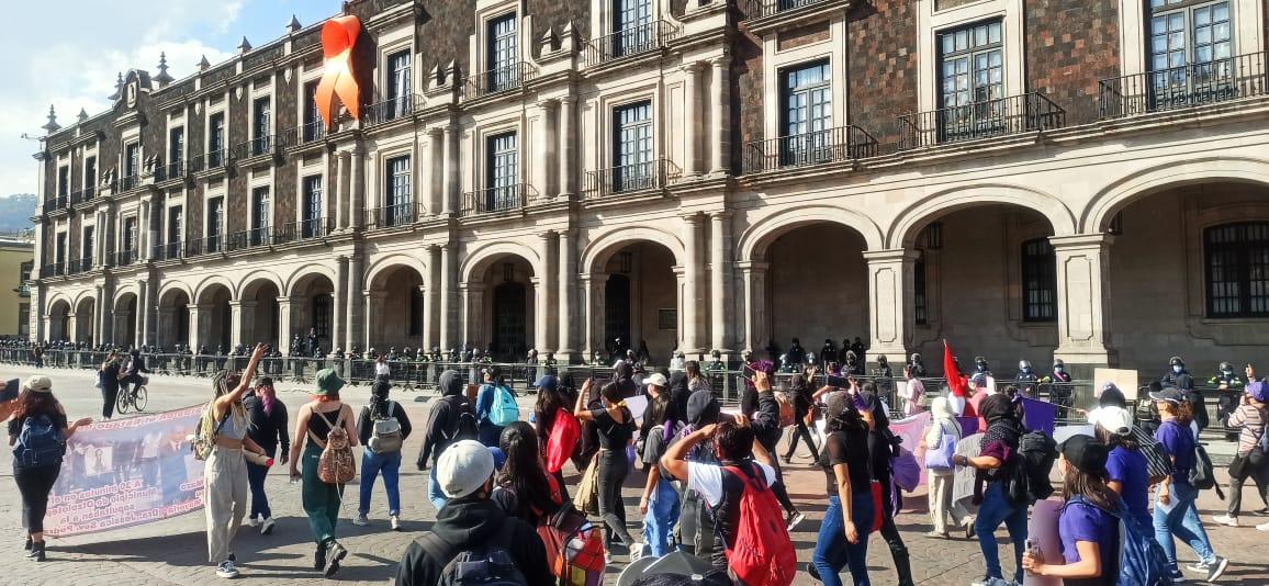 marcha feminista en Toluca