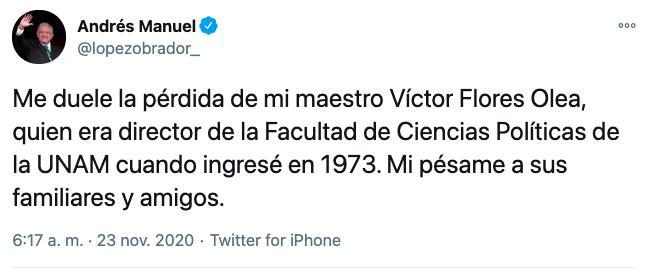 Victor Flores Olea Twitter
