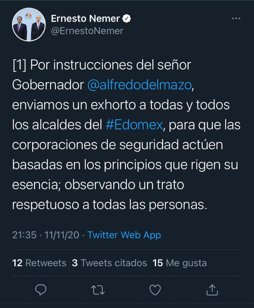 secretaría general de gobierno del Estado de México