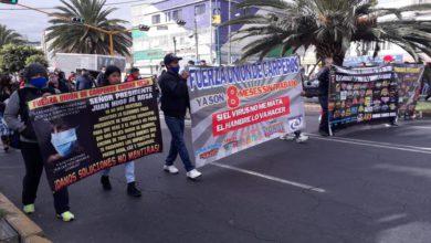 Manifestación en Neza