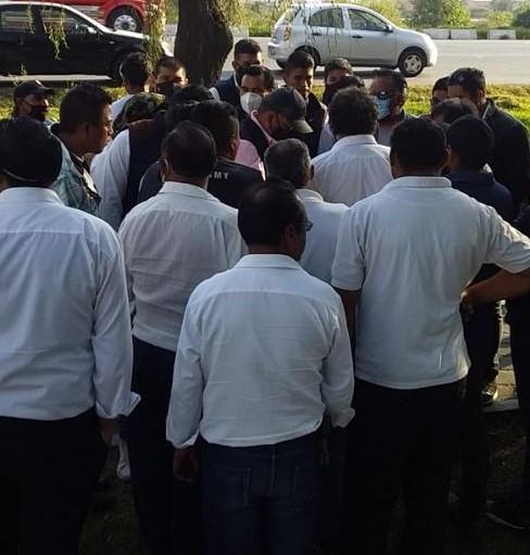 boloqueo de taxistas en Lerma