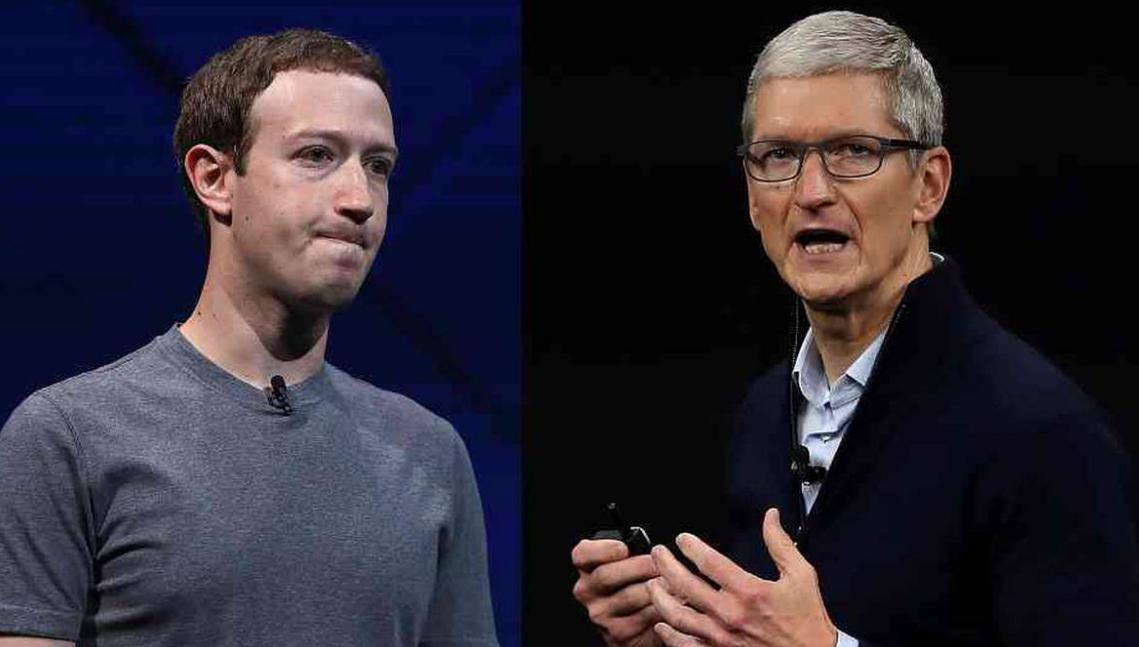 Mark Zuckerberg y Tim Cook