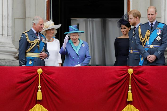 El Duque de Edimburgo, la Reina Isabel II y los Duques de Sussex