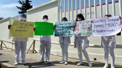 Protesta de médicos residentes