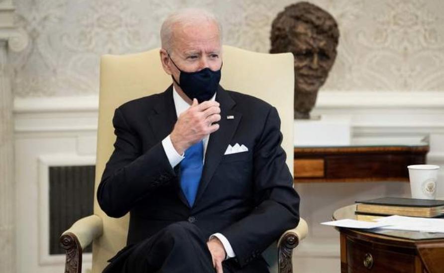 El presidente estadunidense, Joe Biden, hoy en la Oficina Oval de la Casa Blanca, en Washington. Foto Afp