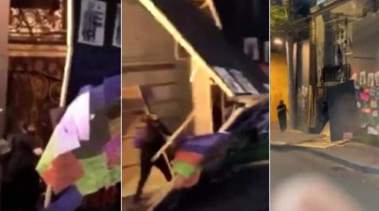 Destrozos en casa de Andrés Roemer