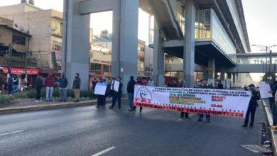Transportistas realizan bloqueos en diferentes puntos de la CDMX / Foto Twitter Noticias Data