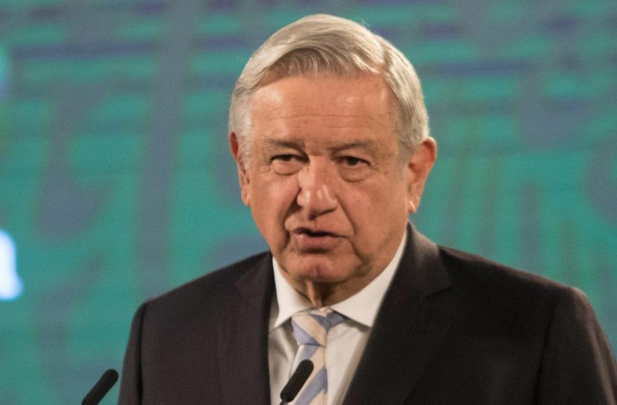 El presidente López Obrador, durante su conferencia matutina desde Palacio Nacional, el 17 de marzo de 2021. Foto Cuartoscuro