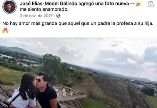 José Elías Medel con su hija