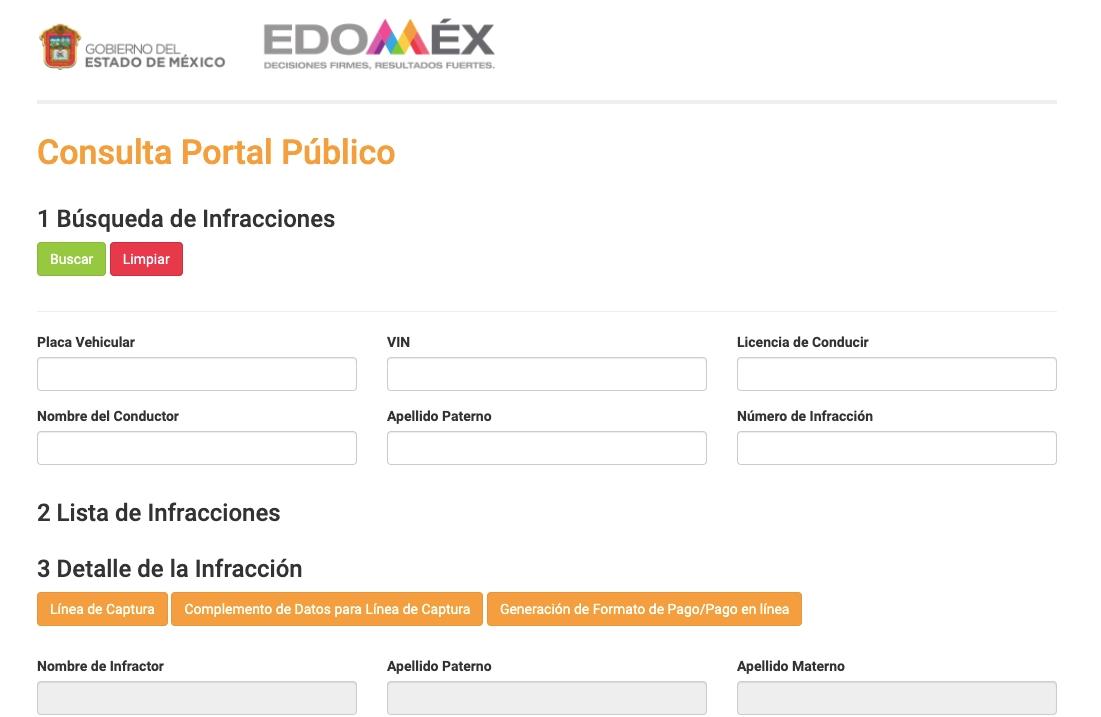 Consulta de multas en el EdoMex 2021