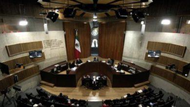 Durante una sesión pública del Tribunal Electoral del Poder Judicial de la Federación. Foto María Meléndrez Parada / archivo