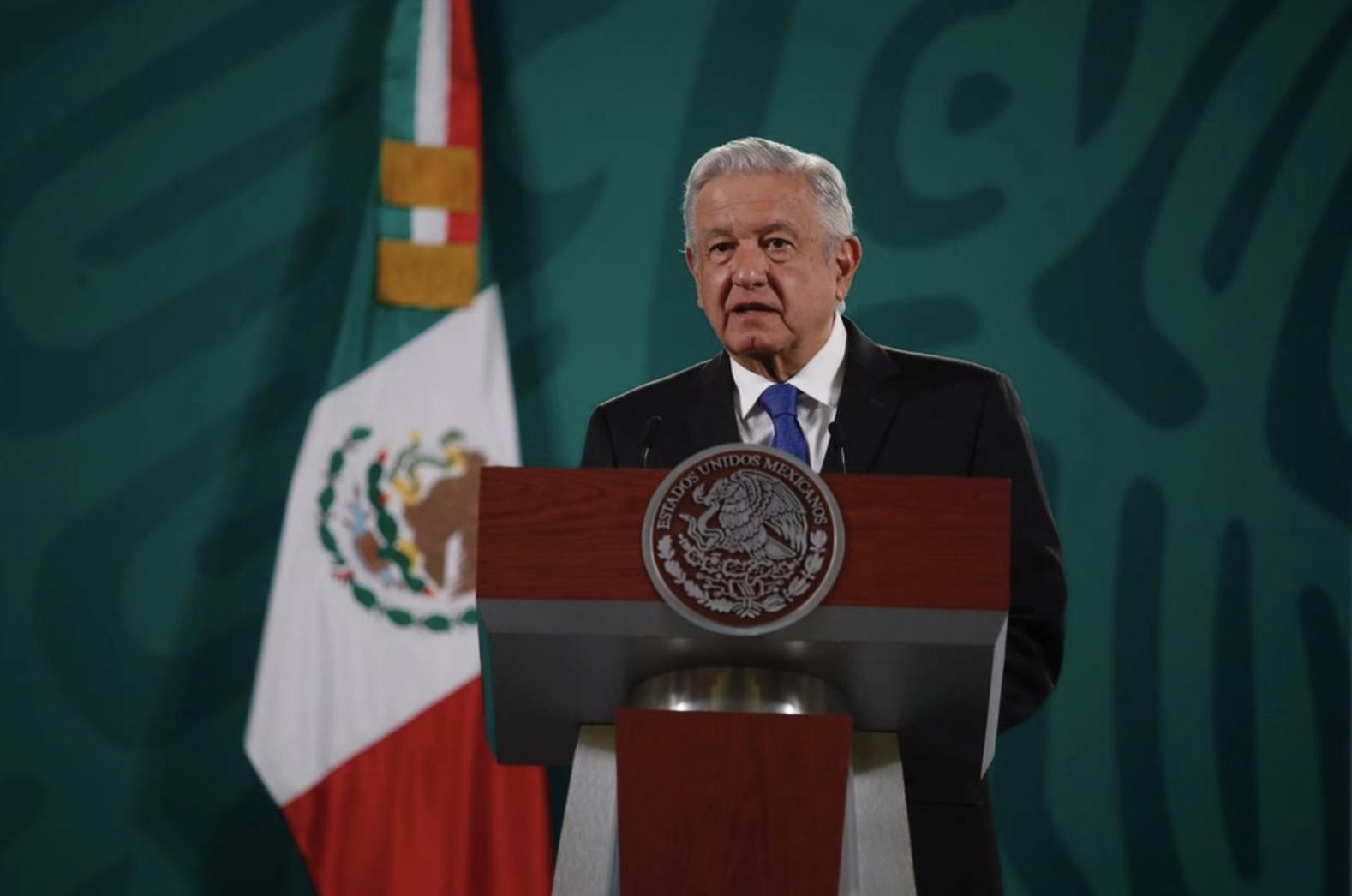 El presidente de México, Andrés Manuel López Obrador, durante su conferencia matutina en Palacio Nacional, en la Ciudad de México, el 28 de abril de 2021. Foto Cristina Rodríguez