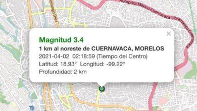 Epicentro del sismo en Cuernavaca