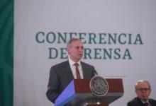 Hugo López Gatell, subsecretario de Prevención y Promoción de la Salud, durante la conferencia matutina en Palacio Nacional. Foto Luis Castillo