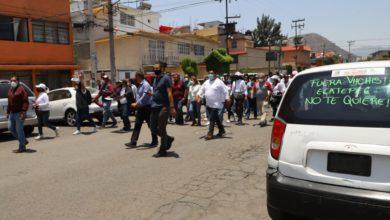 Vecinos de la colonia Héroes de la Independencia lanzaron consignas contra Fernando Vilchis