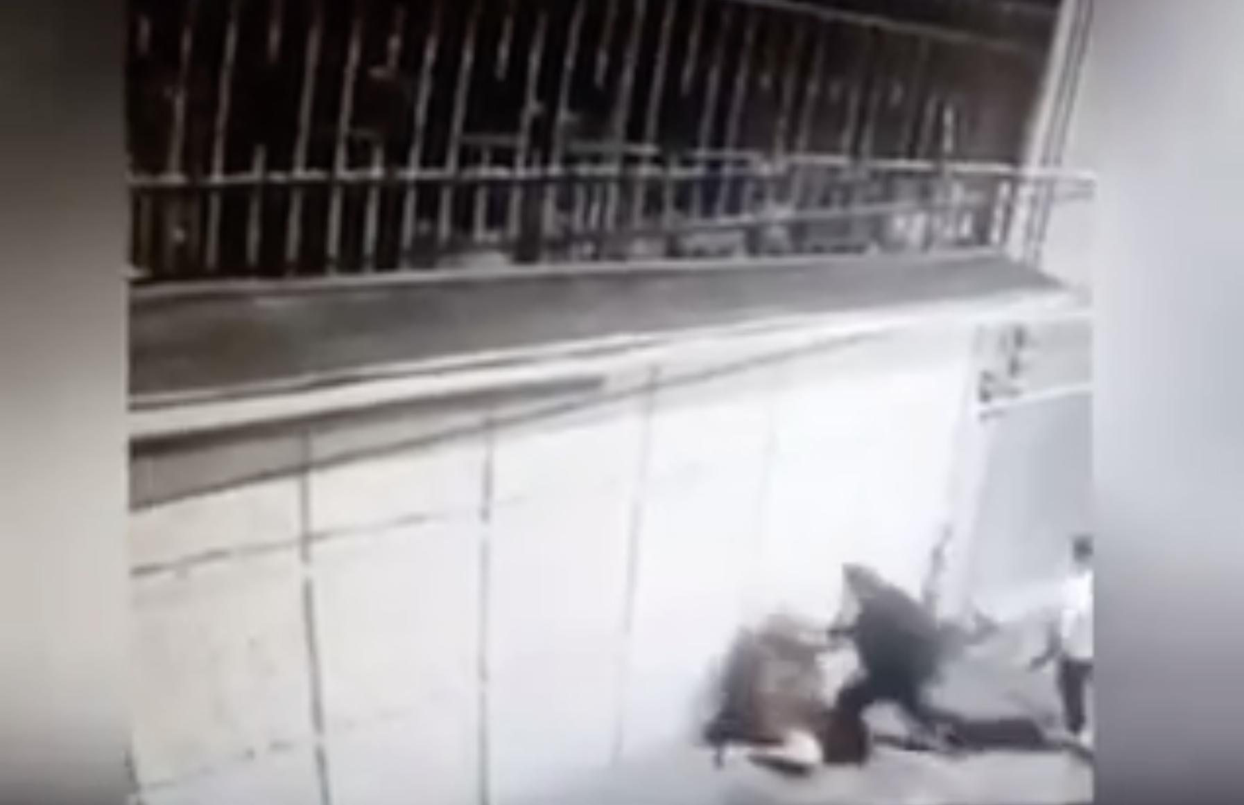 Mujer golpeada en Toluca