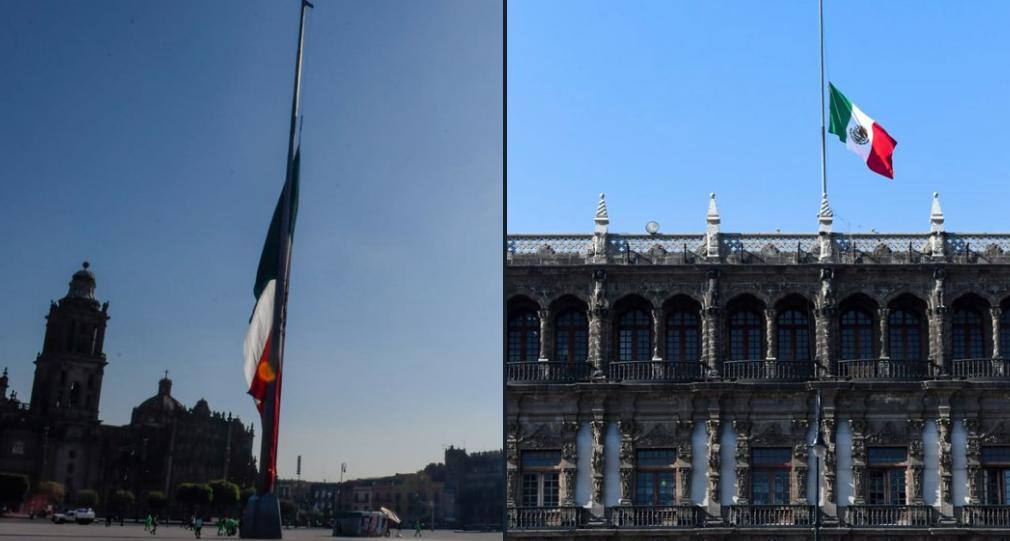 Bandera a media asta por víctima de Línea 12