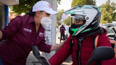 Gabriela Gamboa en recorrido por el municipio