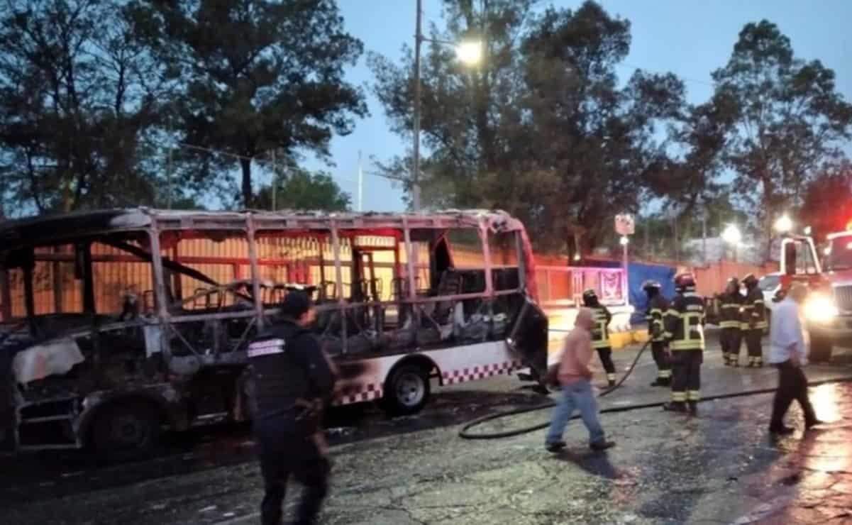 quema de autobús