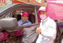 Gerardo Islas, dirigente nacional del partido, acompañó a Uribe en su gira de trabajo