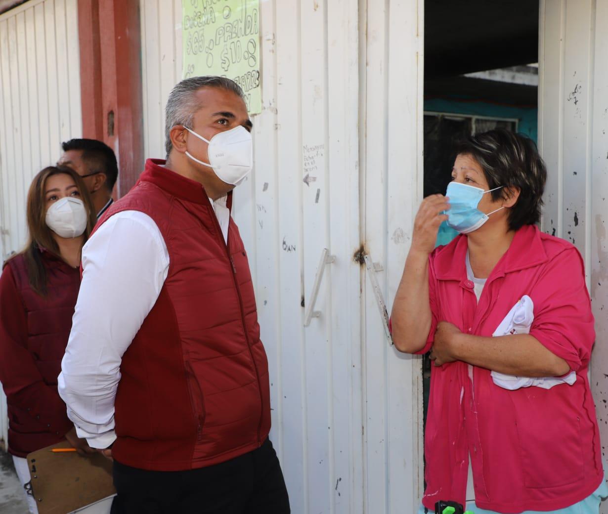 En gira de trabajo, Fernando Vilchis Contreras, candidato a la alcaldía de Ecatepec