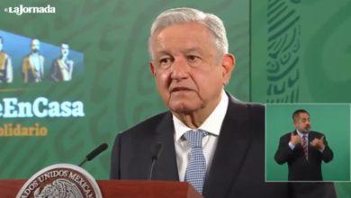 El presidente de México en su conferencia matutina.