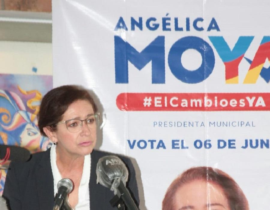 La candidata Angélica Moya por la presidencia de Naucalpan
