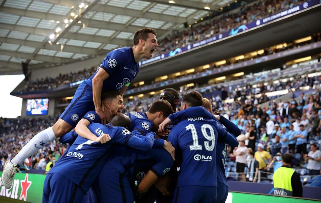 El equipo londinense celebrando el triunfo