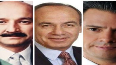 Los expresidente Carlos Salinas de Gortari, Felipe Calderón, Enrique Peña Nieto