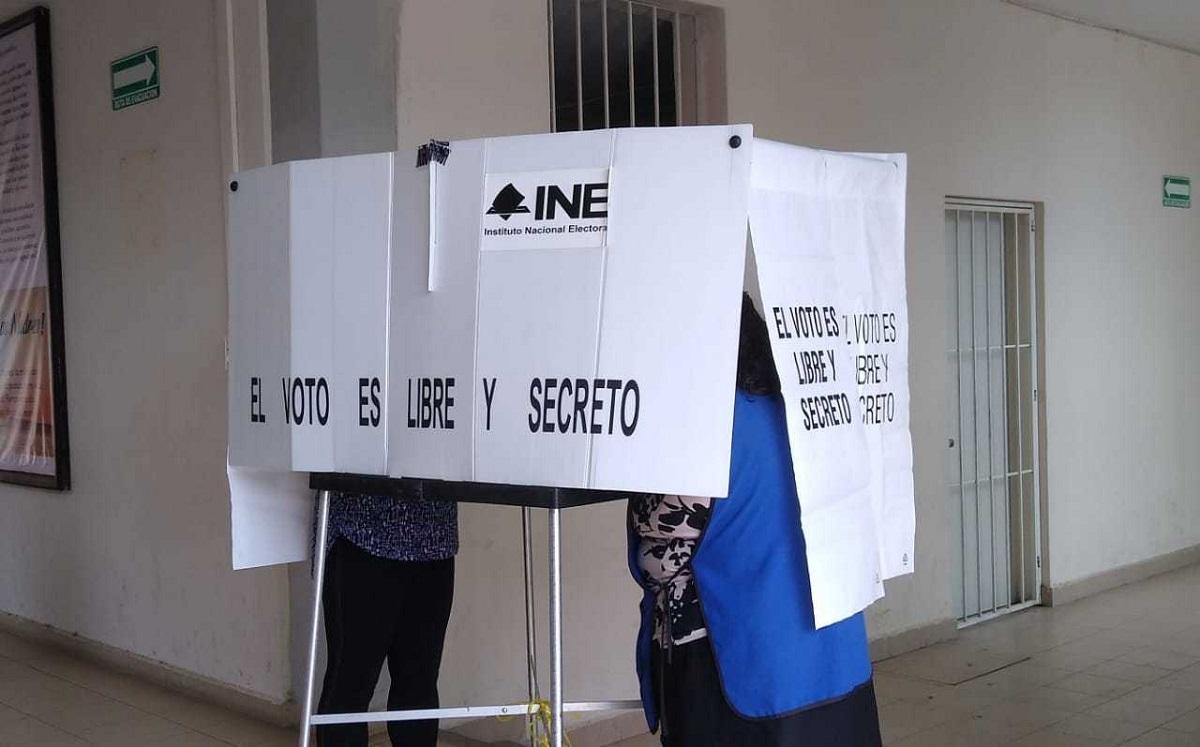 Casilla instalada para ejercer el voto