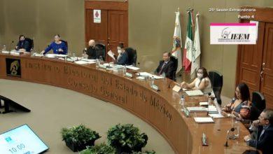 Miembros del Instituto Electoral del Estado de México en sesión
