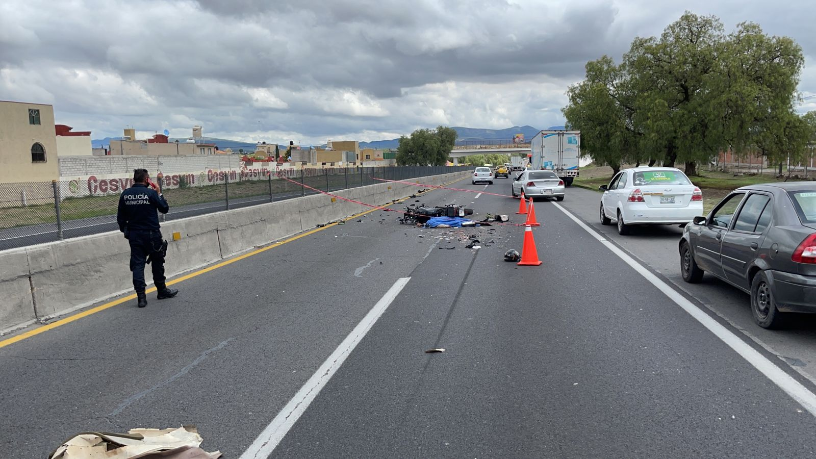 El accidente se registró alrededor de las 10:00 de la mañana de este viernes 14 de mayo