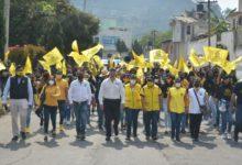 El liderazgo de Omar Ortega fue reconocido por cada uno de los candidatos, así como por militantes