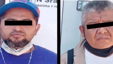 Presuntos responsables del delito de robo de combustimble
