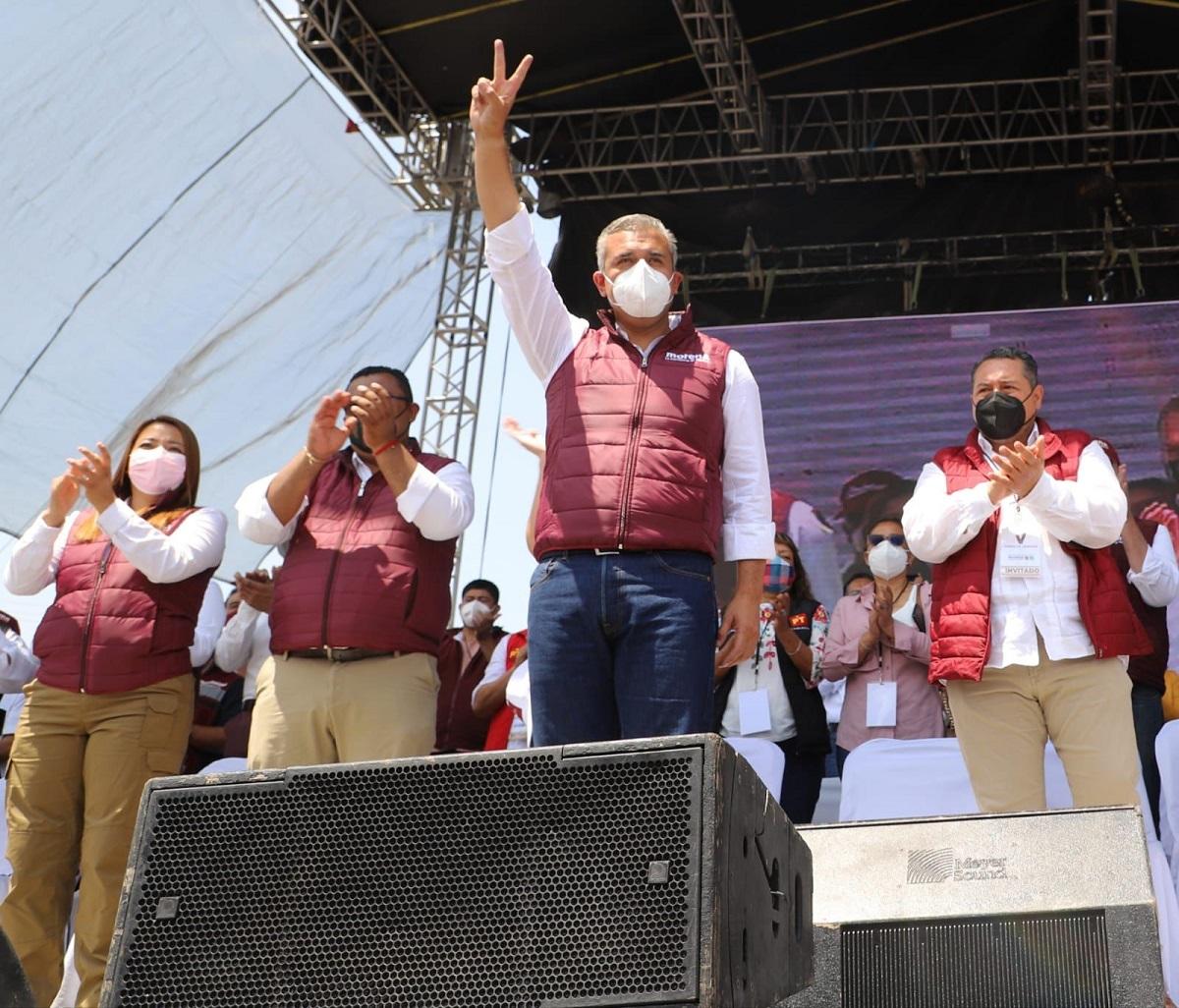 Fernando Vilchis en cierre de campaña