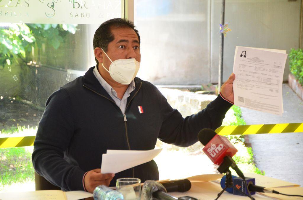 El alcalde de Zinacantepec, Gustavo Vargas