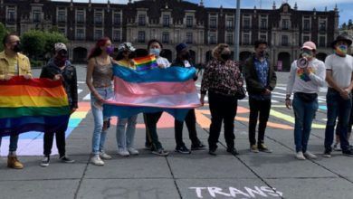 Manifestantes LGBTTTI+