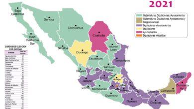 Mapa electoral INE 2021