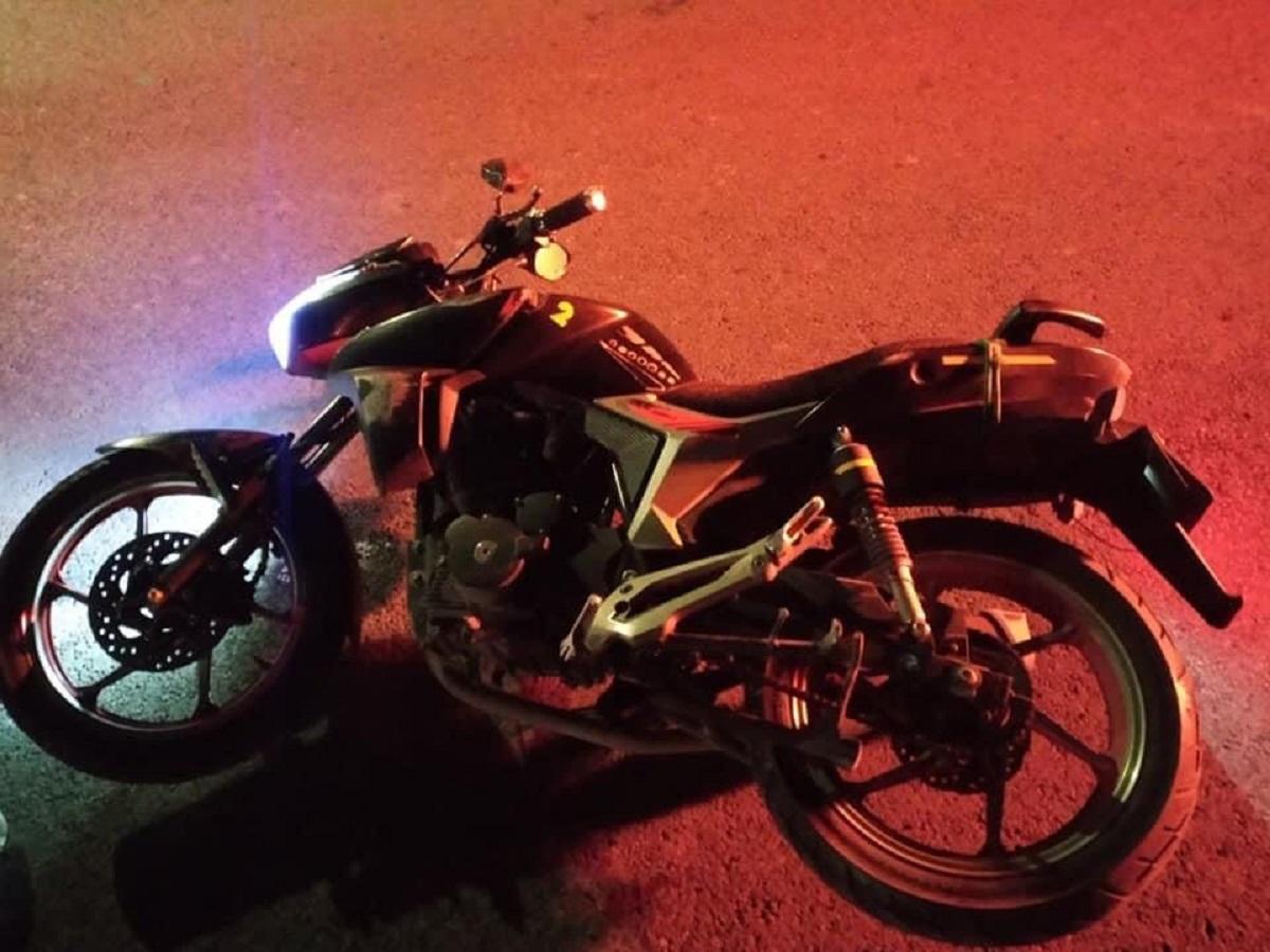 Motocicleta del conductor fallecido