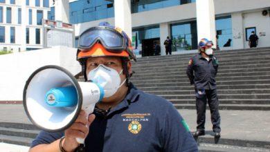 Miembro de protección civil de Naucalpan
