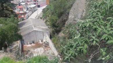 Puente a punto de derrumbar en Naucalpan