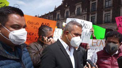 manifestación de alcalde de Ecatepec