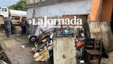Daños materiales en Zinacantepec
